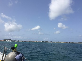 Pulling into Marigot harbor St. Martin after our 22 hour passage